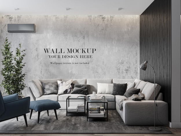 Maquette de mur sur un salon intérieur moderne