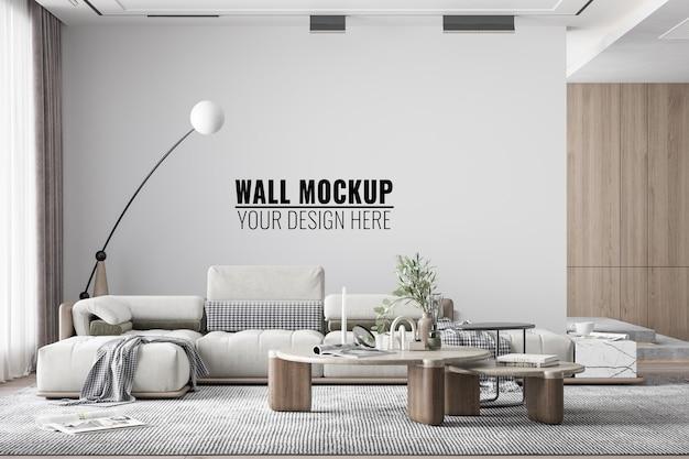 Maquette de mur de salon moderne intérieur