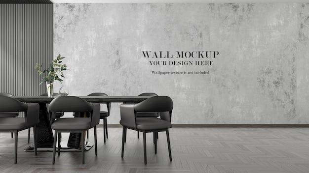 Maquette de mur de salon moderne de rendu 3d