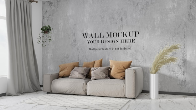 Maquette de mur de salon moderne