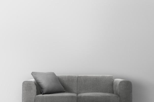 Maquette de mur de salon psd design d'intérieur moderne