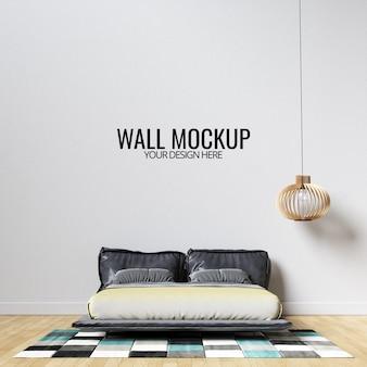Maquette murale de chambre à coucher intérieure