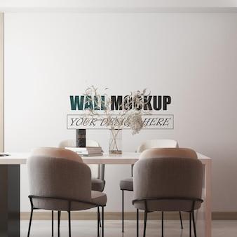 Maquette murale de conception de salle à manger moderne