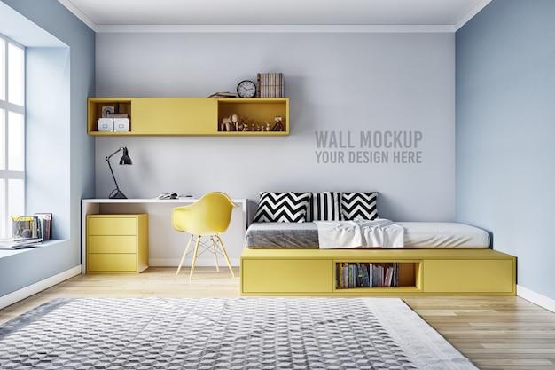 Maquette murale intérieur chambre à coucher pour enfants avec décorations