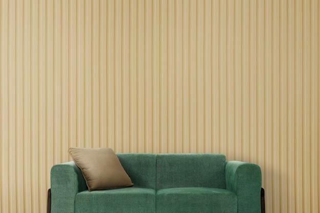 Maquette murale rétro design d'intérieur de salon psd