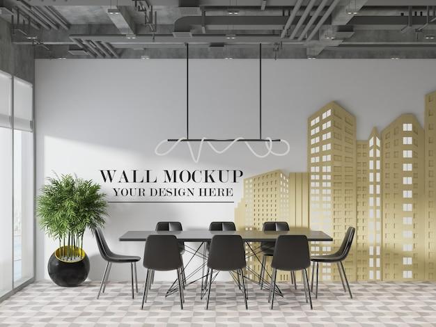 Maquette murale de la salle de réunion d'une entreprise de construction