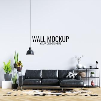 Maquette murale de salon intérieur