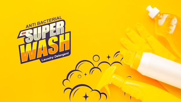 Maquette de nettoyage avec des équipements sanitaires