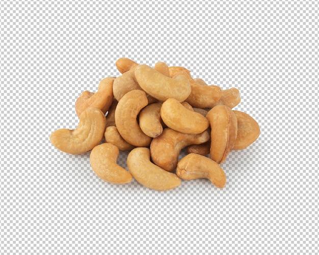 Maquette de noix de cajou isolée