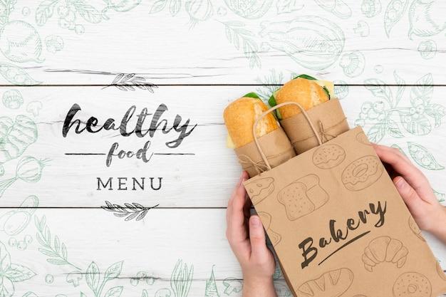 Maquette de nourriture saine