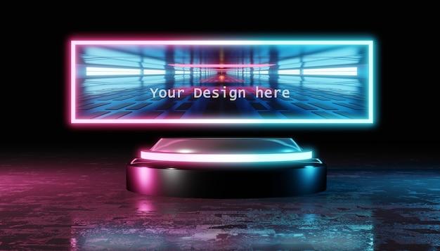 Maquette d'objet intelligent d'un panneau de science-fiction