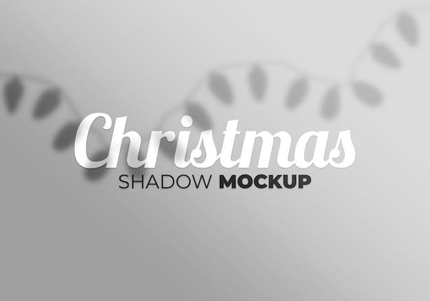 Maquette d'ombre de noël abstrait avec la lumière