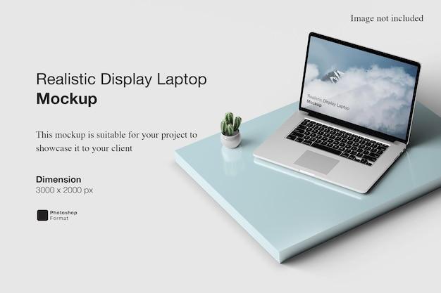 Maquette d'ordinateur portable d'affichage réaliste