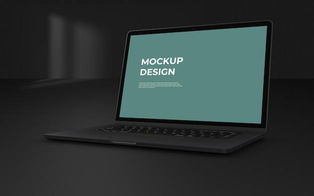 Maquette d'ordinateur portable isolée avec backgroun de rendu 3d