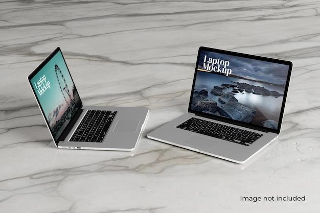 Maquette d'ordinateur portable plat