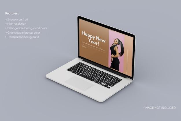 Maquette d'ordinateur portable en plein écran