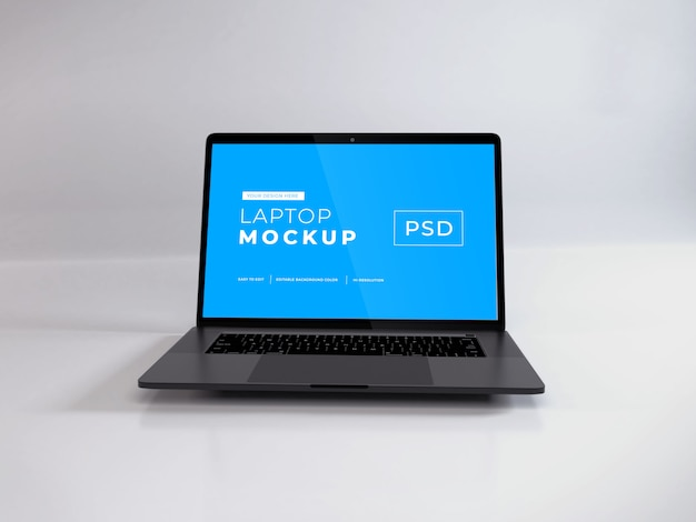 Maquette d'ordinateur portable réaliste