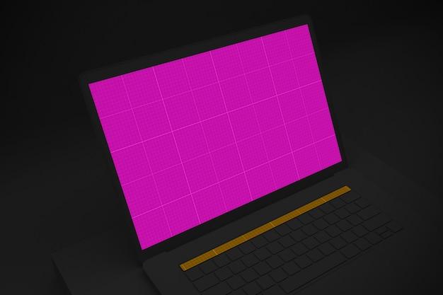 Maquette d'ordinateur portable sombre