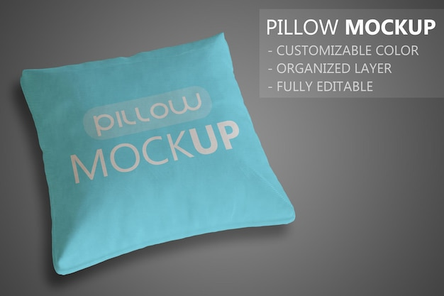 Maquette d'oreiller ou de coussin en gros plan simple 3d