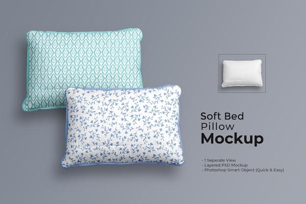 Maquette d'oreiller de lit doux