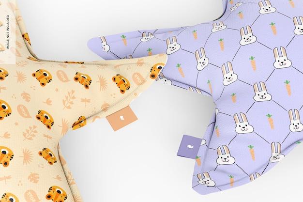 Maquette d'oreillers étoiles, gros plan