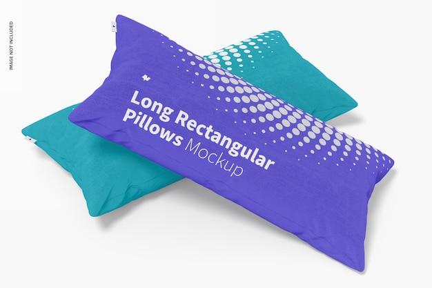 Maquette d'oreillers rectangulaires longs, perspective