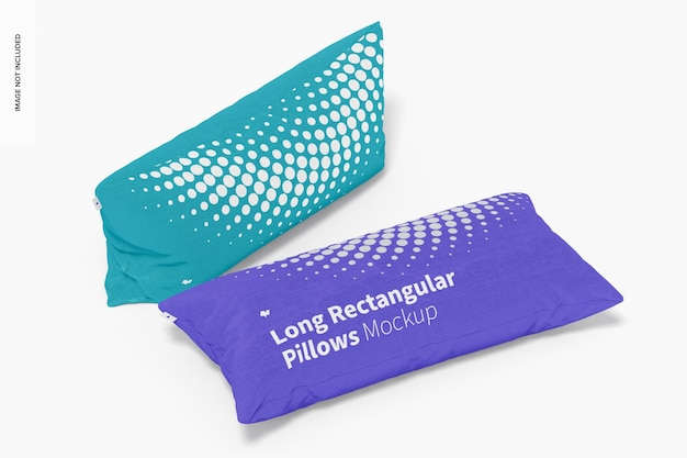 Maquette d'oreillers rectangulaires longs