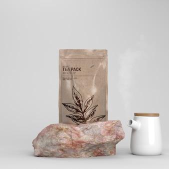Maquette de pack de thé