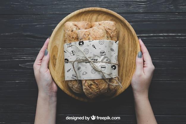 Maquette de pain à bord