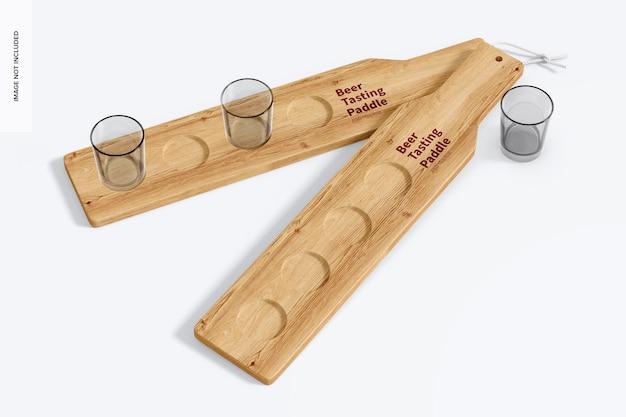 Maquette de palettes de dégustation de bière