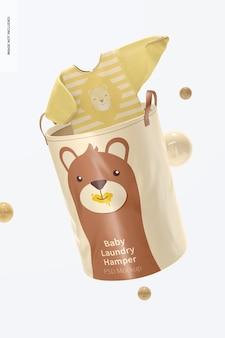 Maquette de panier à linge pour bébé, flottant
