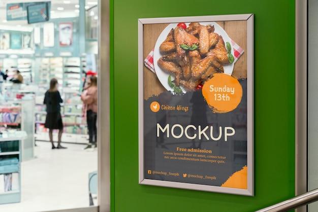 Maquette de panneau d'affichage alimentaire de la ville