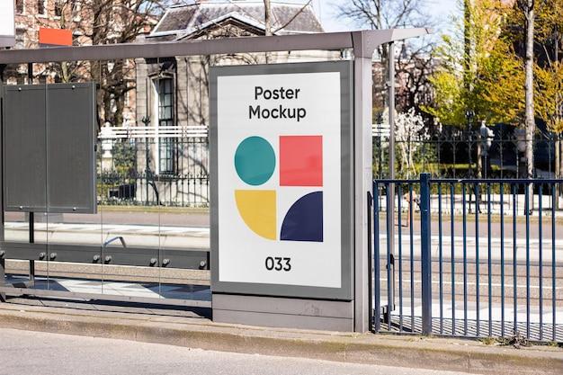 Maquette de panneau d'affichage d'arrêt de bus