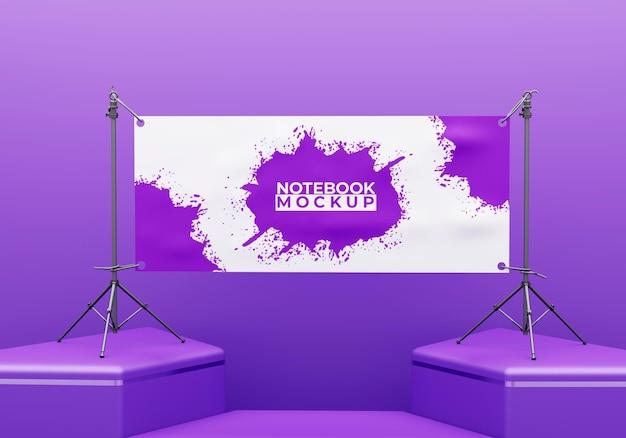 Maquette de panneau d'affichage et de bannière de scène