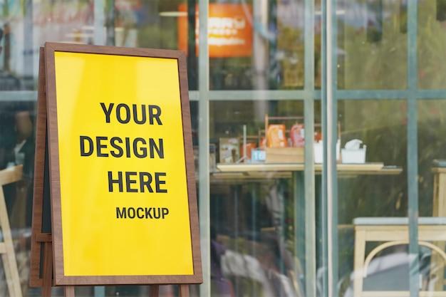 Maquette de panneau d'affichage pour la promotion d'affichage
