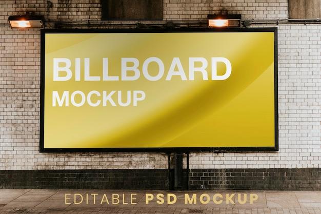 Maquette de panneau d'affichage psd, publicité dans la rue de londres