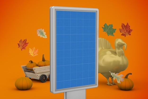 Maquette de panneau d'affichage de thanksgiving