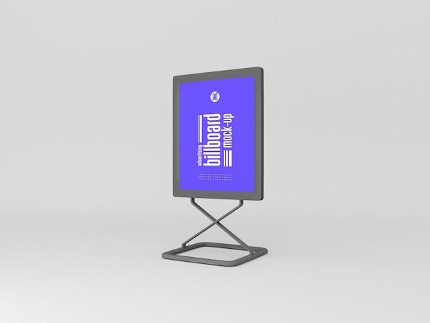 Maquette de panneau d'affichage vertical