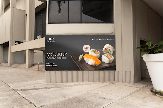Maquette de panneaux d'affichage à miami