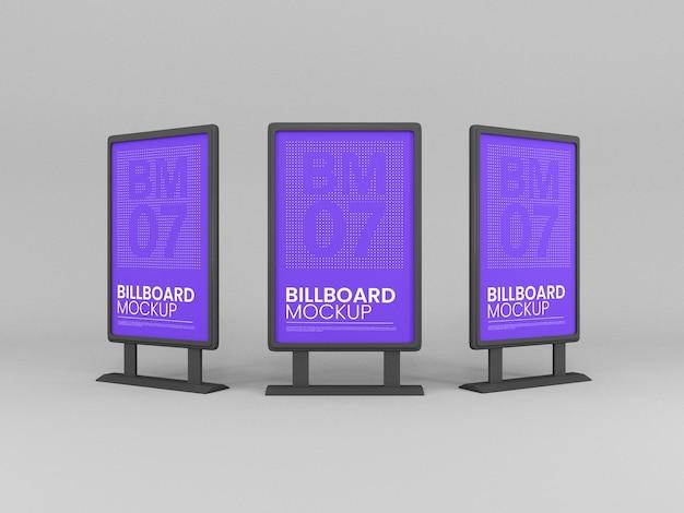 Maquette de panneaux d'affichage sur support vertical