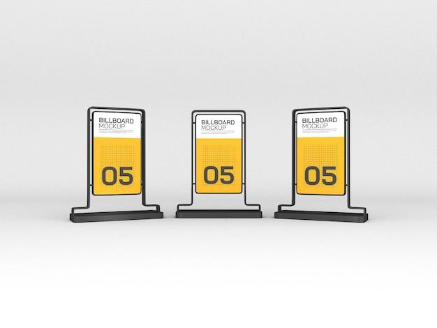 Maquette de panneaux d'affichage verticaux