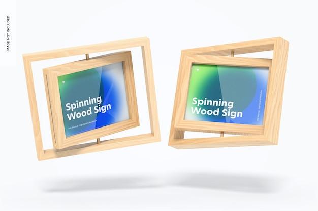 Maquette de panneaux de cadre en bois en rotation