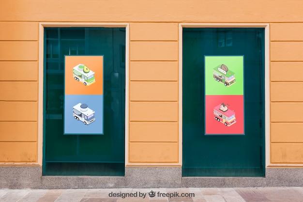 Maquette de panneaux colorés