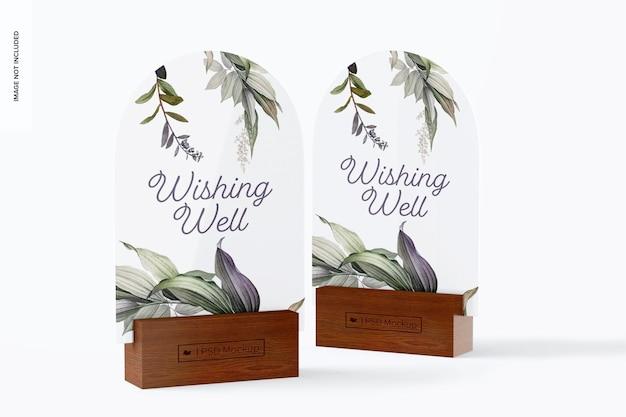 Maquette de panneaux de table en arc acrylique