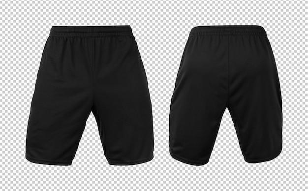Maquette de pantalon de short noir vierge