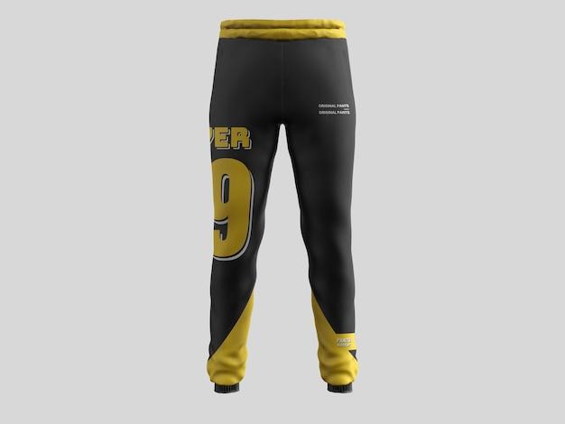 Maquette de pantalon de sport