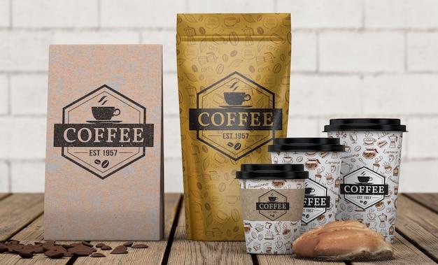 Maquette de papeterie pour café