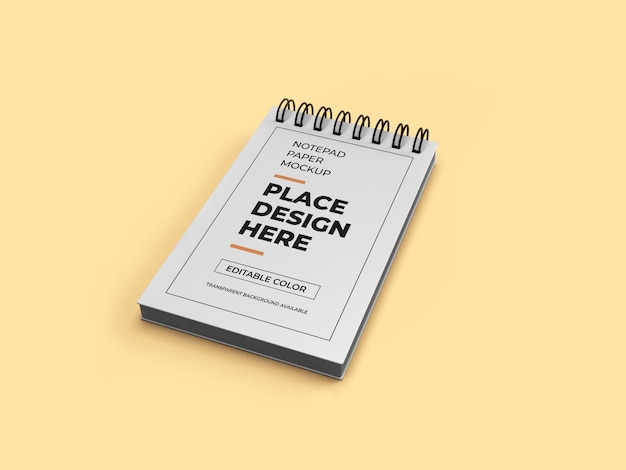 Maquette de papier de bloc-notes