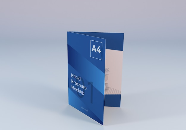 Maquette de papier brochure a4 réaliste