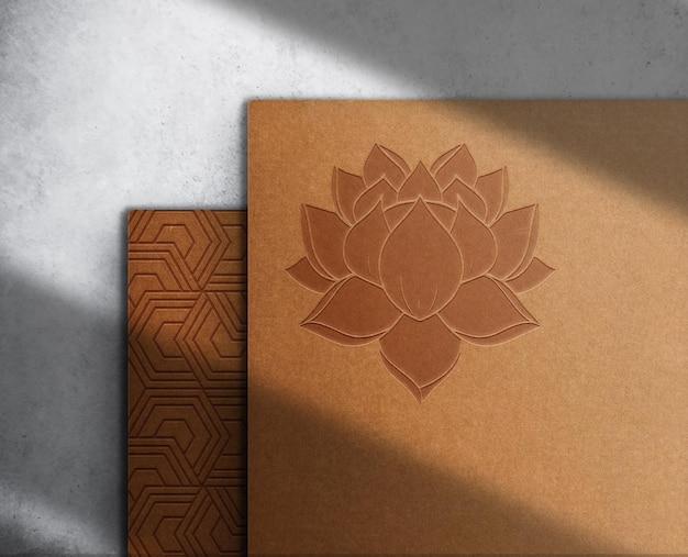 Maquette de papier gaufré de luxe
